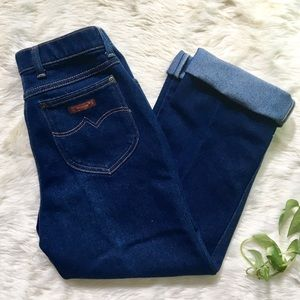 Vintage 1970 Wrangler High Waisted Cropped